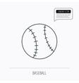 Baseball icon Sport ball sign vector image