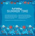 best holidays in summer time underwater background vector image vector image