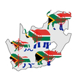 Big Five South Africa cross lines vector image