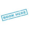 Book Here Rubber Stamp vector image vector image