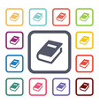 books flat icons set vector image vector image