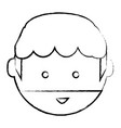 cartoon man face icon vector image vector image