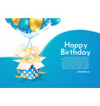 celebrating 23 rd years birthday vector image