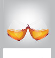 cheers glasses clinking vector image vector image