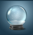 christmas snow globe isolated on transparent vector image vector image