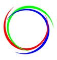 circular rgb logo vector image