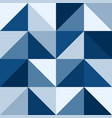 classic blue retro triangles mosaic pattern vector image vector image