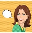 Comic woman says vector image