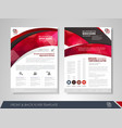 corporate brochure red vector image vector image