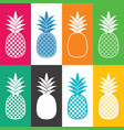 creative abstract pineapple icons vector image vector image