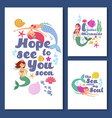 cute kids nautical cards marine children vector image vector image