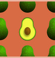 cutted ripe avocado seamless pattern vector image vector image