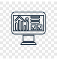 data analysis concept linear icon isolated on vector image
