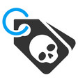death skull tags flat icon vector image vector image