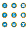 dirty icons set flat style vector image vector image