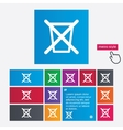 Do not throw in trash Recycle bin sign icon vector image vector image