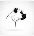 dog head design boxer on white background vector image