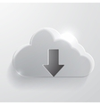 Download cloud glass icon vector image