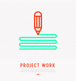drawing pencil thin line icon symbol of design vector image vector image