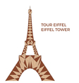 Eiffel tower in low poly style vector image vector image