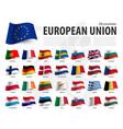 european union flag eu and membership vector image