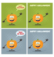 evil halloween pumpkin collection - 3 vector image vector image