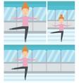 Female figure skater vector image vector image