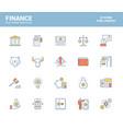 flat line filled icons design-finance vector image