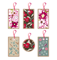 floral tags vector image vector image