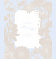 frame with spring and summer line flowers vector image vector image