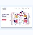 furniture design website landing page vector image