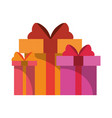 gift boxes present cartoon isolated vector image vector image