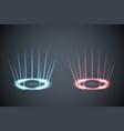 glow scene rays energy conflict game versus screen vector image