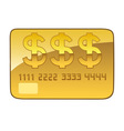 golden plastic card vector image