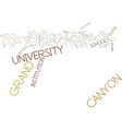 grand canyon university text background word vector image vector image