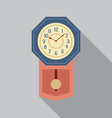 Grandfather Pendulum Clock vector image vector image
