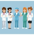 group staff medical health vector image vector image
