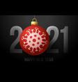 happy new year 2021 2021 with a christmas tree vector image vector image