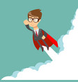 hero flying through the cloud vector image vector image