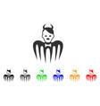 hitler spectre devil icon vector image vector image