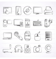 Home electronics and personal multimedia devices vector image
