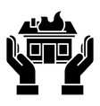 home insurance icon black vector image
