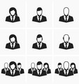 Icons of office employees vector image