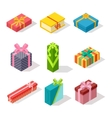 Isometric gift box icon isolated vector image vector image