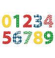 kids fun colorful numbers collection vector image