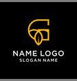 letter g leaf logo vector image vector image