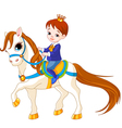 Little prince on horse vector image vector image