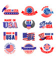 made in usa quality tags vector image vector image