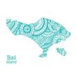map island bali indonesia vector image vector image
