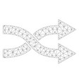 mesh shuffle arrows right icon vector image vector image